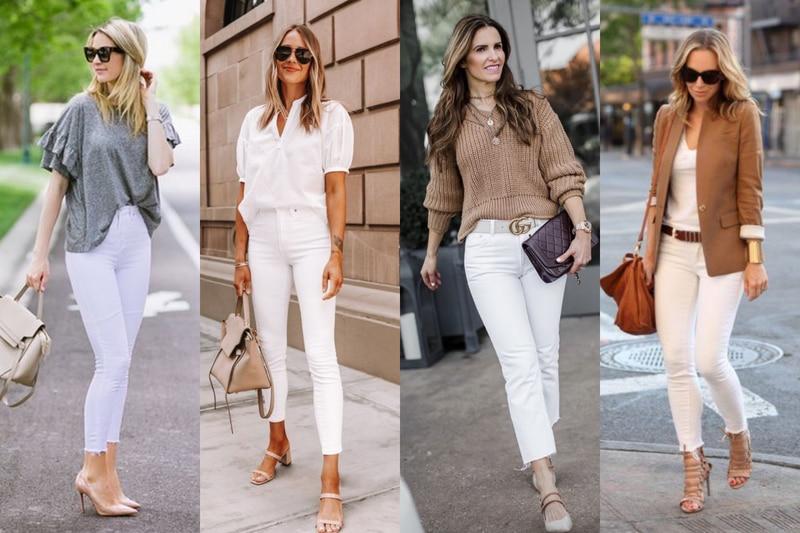jeans blancos cómo combinar