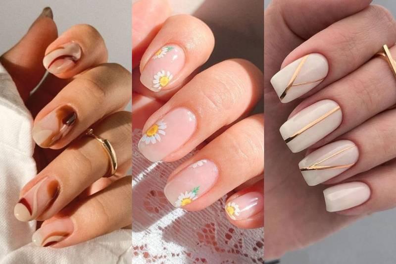diseños de uñas cortas elegantes