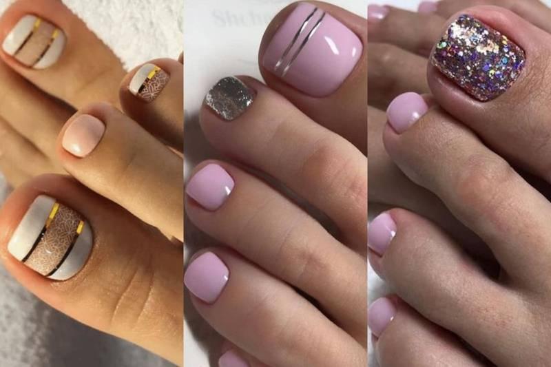 diseños de uñas pies pedicura
