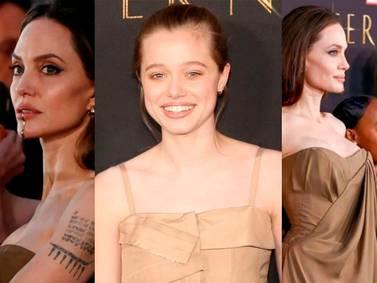 Fotos de Angelina Jolie con cabello rubio y corto en las que luce idéntica a Shiloh
