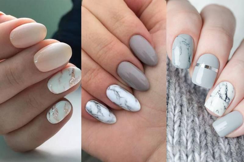 diseños de uñas efecto mármol